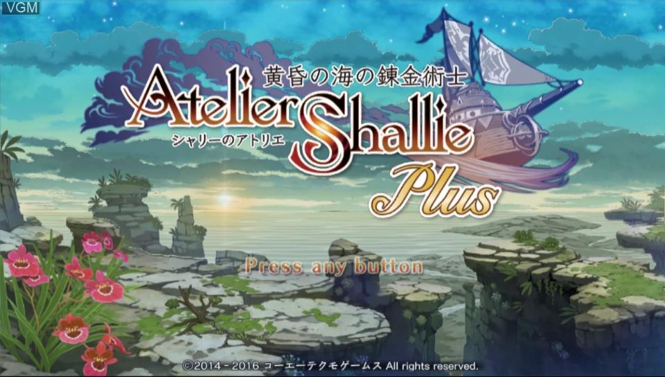 Image de l'ecran titre du jeu Atelier Shallie Plus - Alchemists of the Dusk Sea sur Sony PS Vita