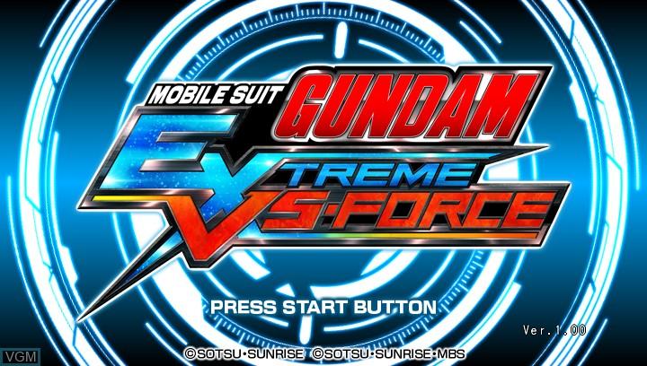 Image de l'ecran titre du jeu Mobile Suit Gundam - Extreme VS-Force sur Sony PS Vita