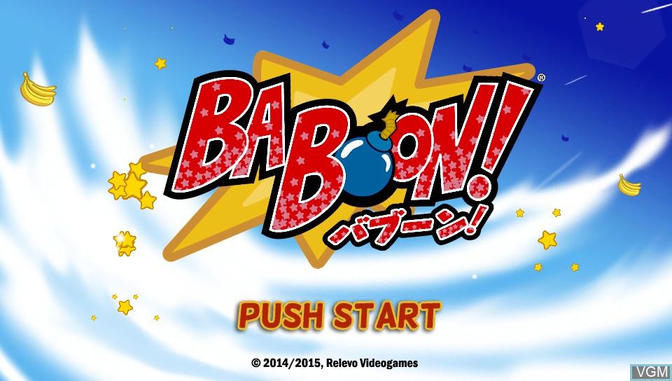 Image de l'ecran titre du jeu Baboon! sur Sony PS Vita