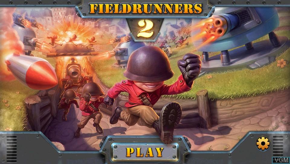 Image de l'ecran titre du jeu Fieldrunners 2 sur Sony PS Vita