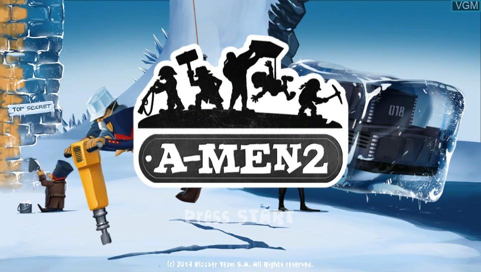 Image de l'ecran titre du jeu A-Men 2 sur Sony PS Vita