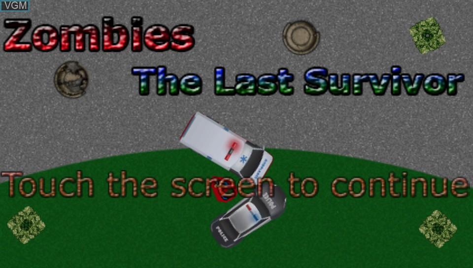 Image de l'ecran titre du jeu Zombies - The Last Survivor sur Sony PS Vita