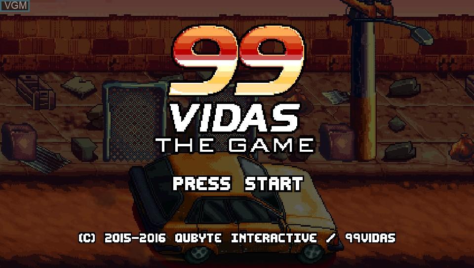 Image de l'ecran titre du jeu 99Vidas sur Sony PS Vita