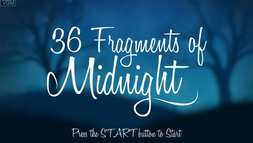 Image de l'ecran titre du jeu 36 Fragments of Midnight sur Sony PS Vita