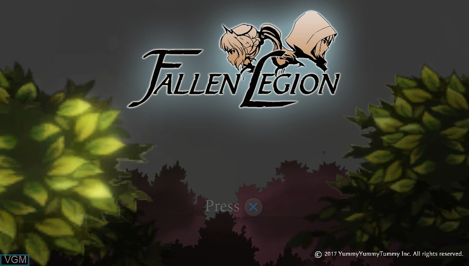 Image de l'ecran titre du jeu Fallen Legion - Flames of Rebellion sur Sony PS Vita