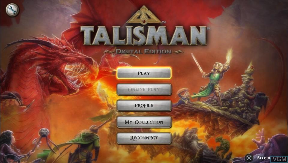 Image de l'ecran titre du jeu Talisman - Digital Edition sur Sony PS Vita