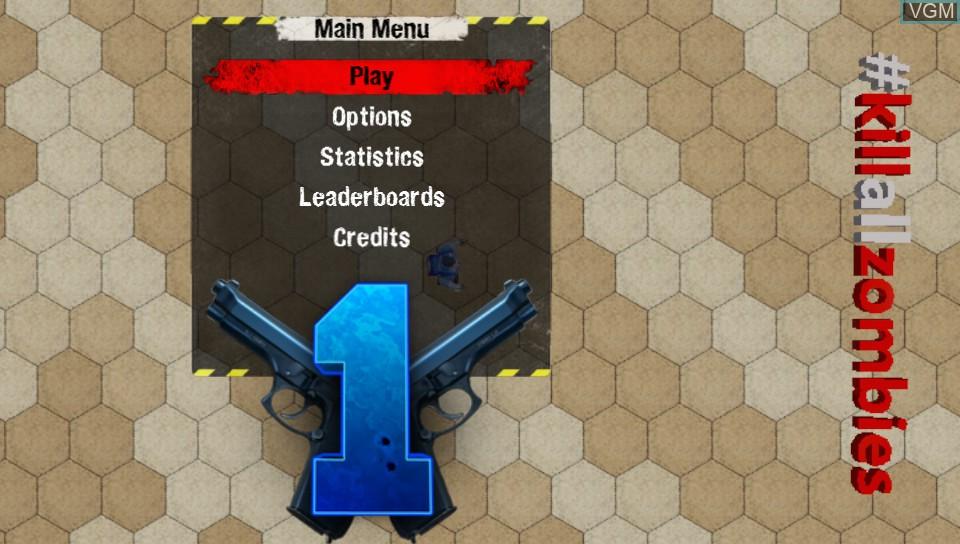 Image de l'ecran titre du jeu #KILLALLZOMBIES sur Sony PS Vita