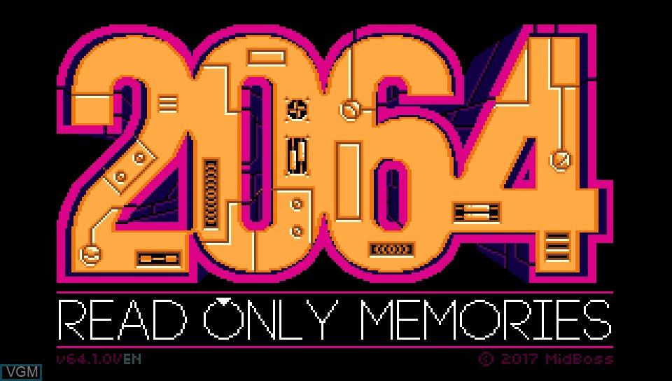 Image de l'ecran titre du jeu 2064 - Read Only Memories sur Sony PS Vita