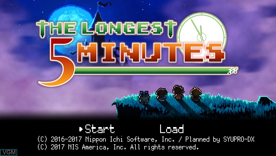Image de l'ecran titre du jeu Longest Five Minutes, The sur Sony PS Vita