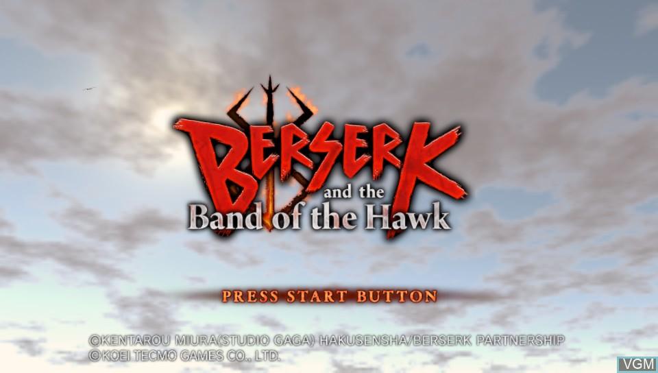 Image de l'ecran titre du jeu Berserk and the Band of the Hawk sur Sony PS Vita
