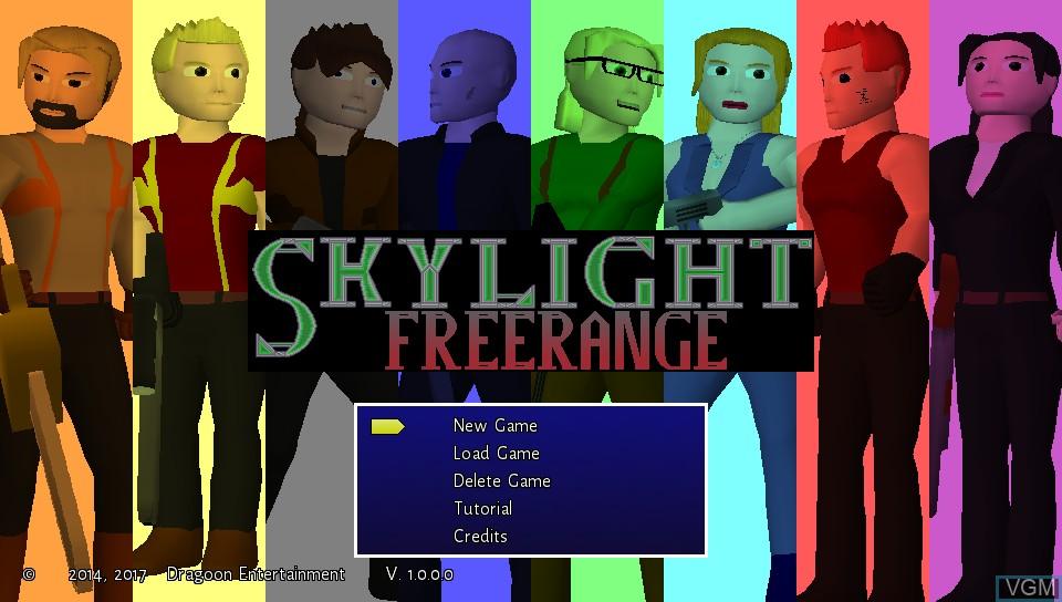Image de l'ecran titre du jeu Skylight Freerange sur Sony PS Vita