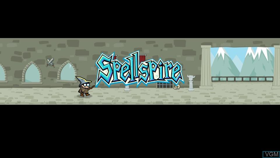 Image de l'ecran titre du jeu Spellspire sur Sony PS Vita