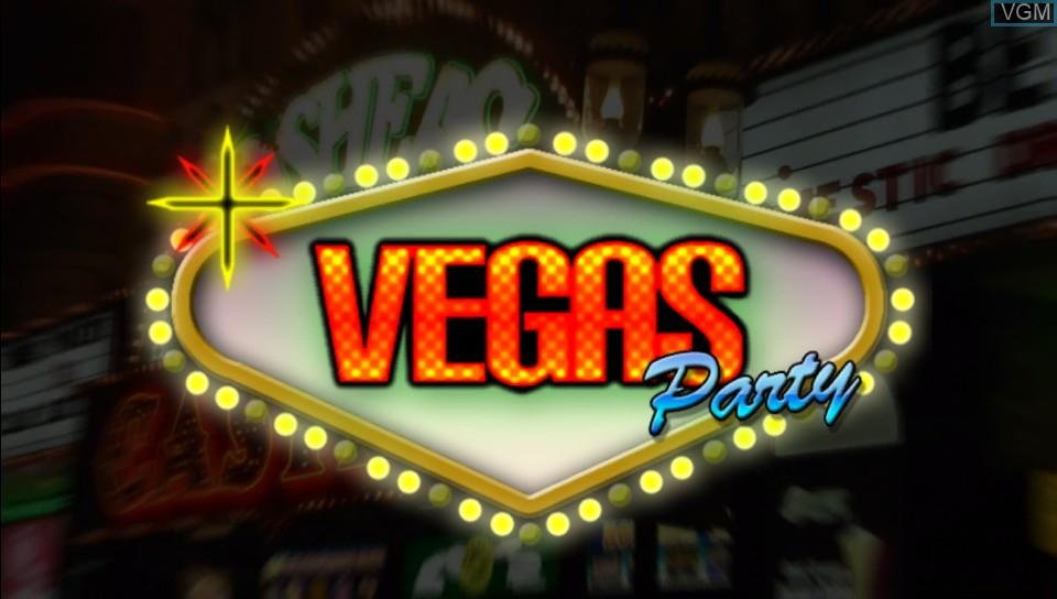 Image de l'ecran titre du jeu Vegas Party sur Sony PS Vita