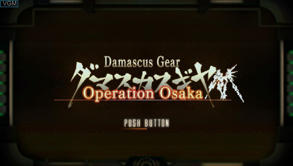 Image de l'ecran titre du jeu Damascus Gear - Operation Osaka sur Sony PS Vita
