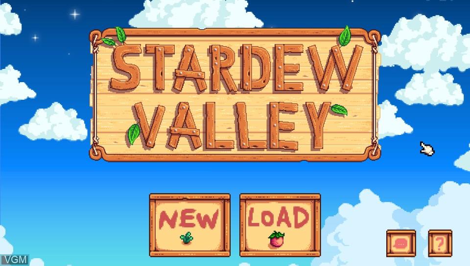 Image de l'ecran titre du jeu Stardew Valley sur Sony PS Vita