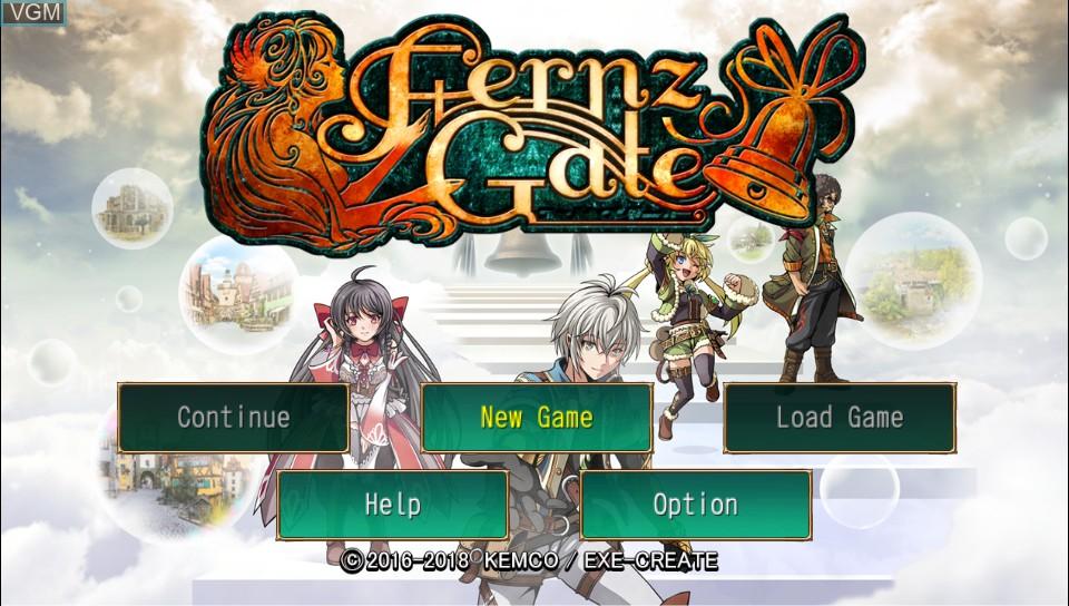 Image de l'ecran titre du jeu Fernz Gate sur Sony PS Vita