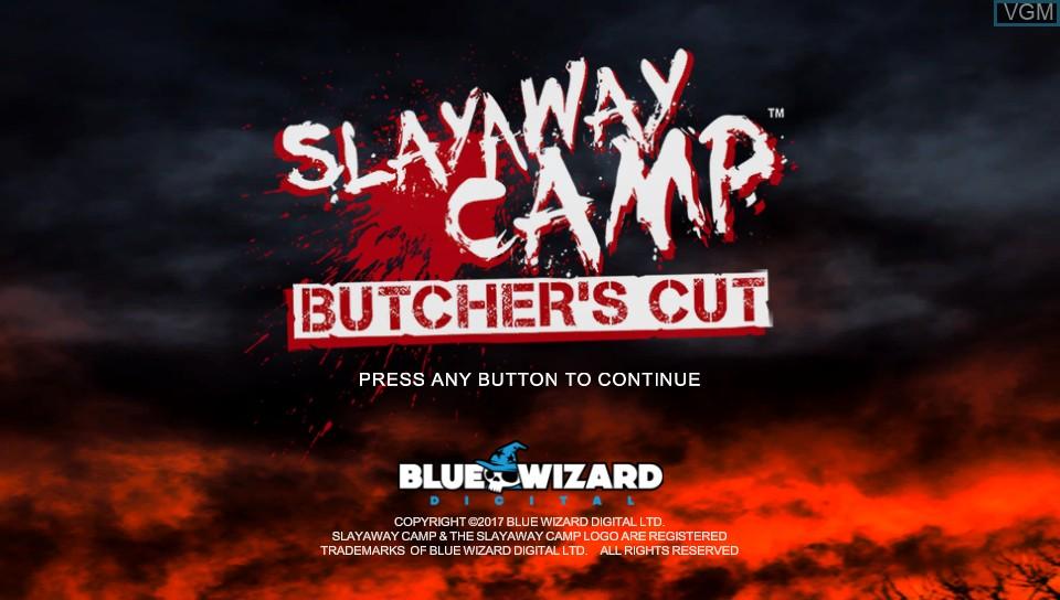 Image de l'ecran titre du jeu Slayaway Camp - Butcher's Cut sur Sony PS Vita