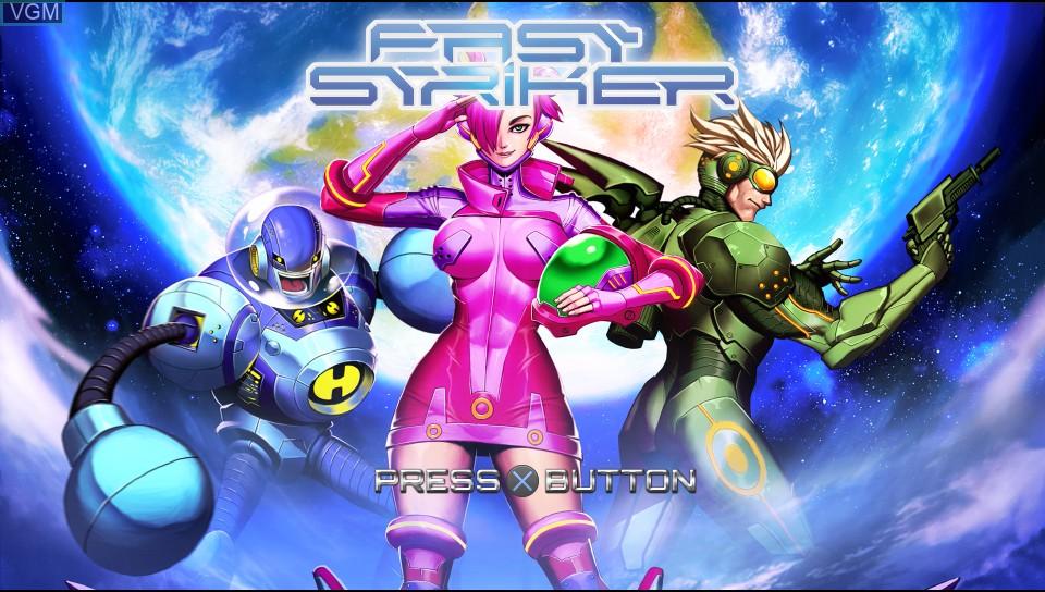 Image de l'ecran titre du jeu Fast Striker sur Sony PS Vita