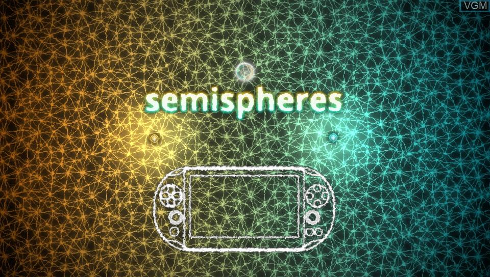 Image de l'ecran titre du jeu Semispheres sur Sony PS Vita