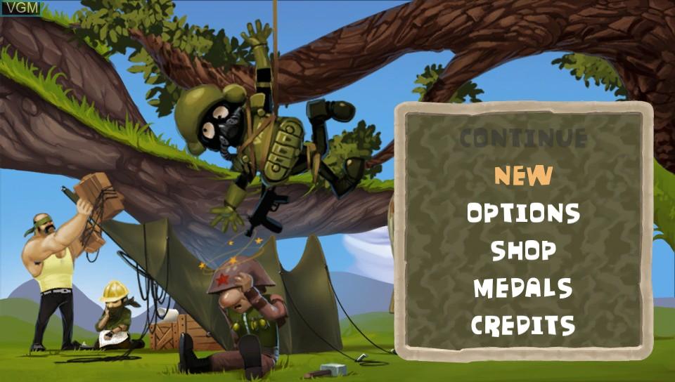 Image du menu du jeu A-Men sur Sony PS Vita