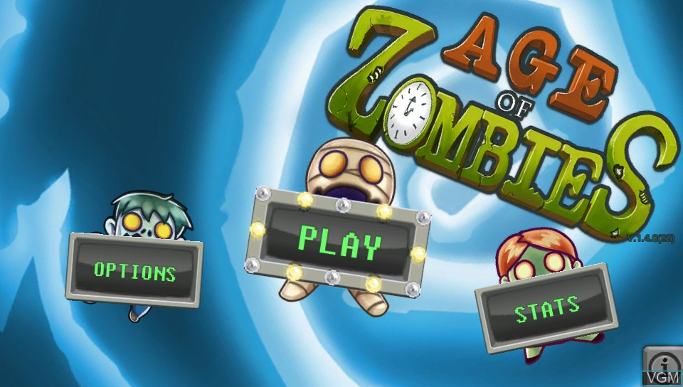 Image du menu du jeu Age of Zombies sur Sony PS Vita