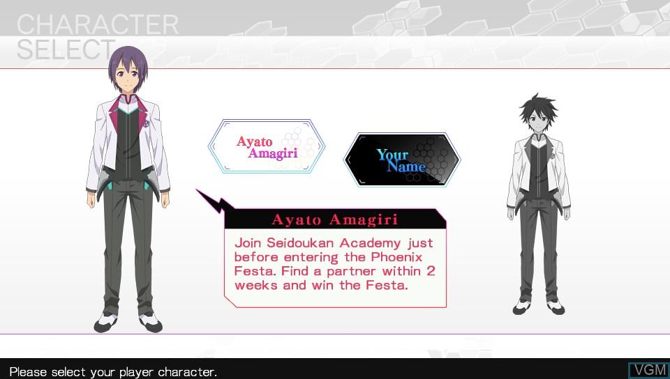 Image du menu du jeu A.W. - Phoenix Festa sur Sony PS Vita