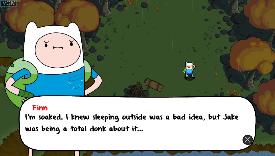 Image du menu du jeu Adventure Time - The Secret of the Nameless Kingdom sur Sony PS Vita
