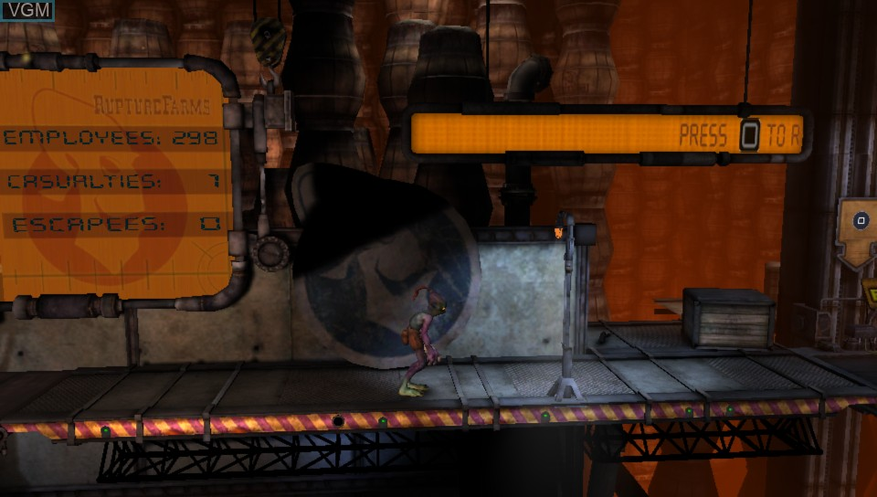 Image du menu du jeu Oddworld - Abe's Oddysee - New 'n' Tasty sur Sony PS Vita