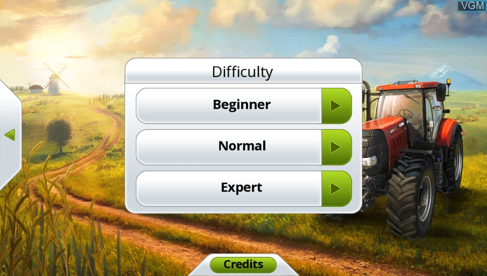 Image du menu du jeu Farming Simulator 14 sur Sony PS Vita