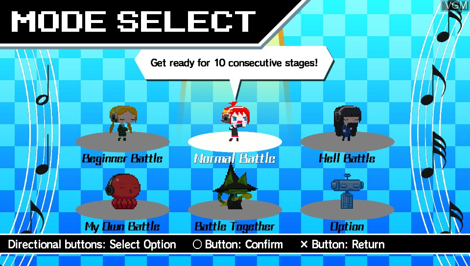 Image du menu du jeu Magical Beat sur Sony PS Vita