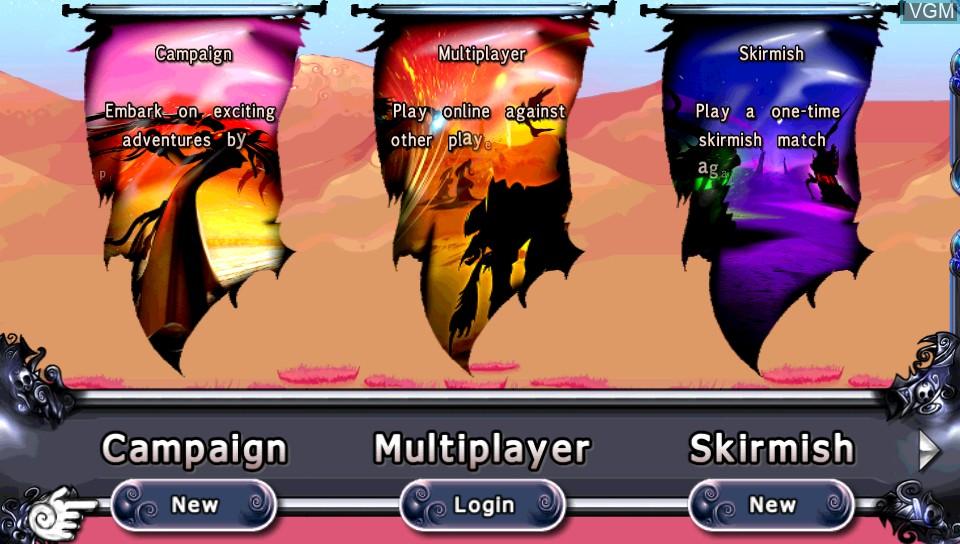 Image du menu du jeu Desert Ashes sur Sony PS Vita