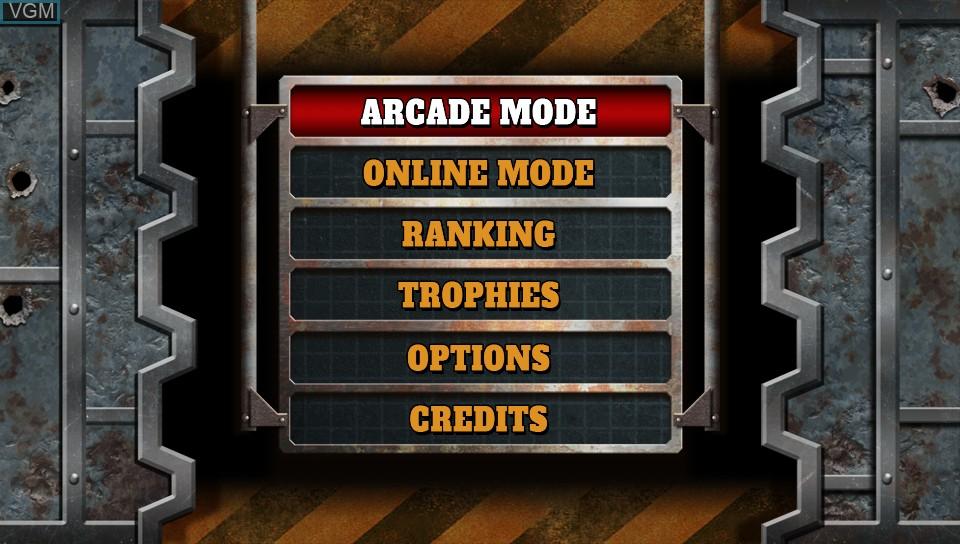 Image du menu du jeu Metal Slug 3 sur Sony PS Vita