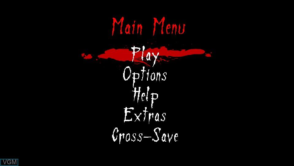 Image du menu du jeu Neverending Nightmares sur Sony PS Vita