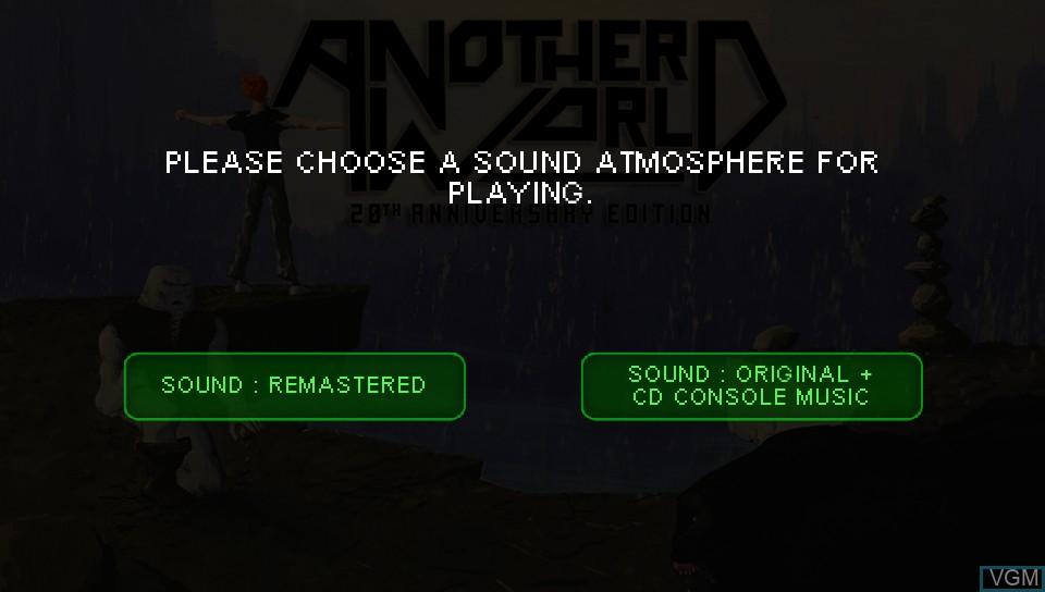 Image du menu du jeu Another World - 20th Anniversary Edition sur Sony PS Vita