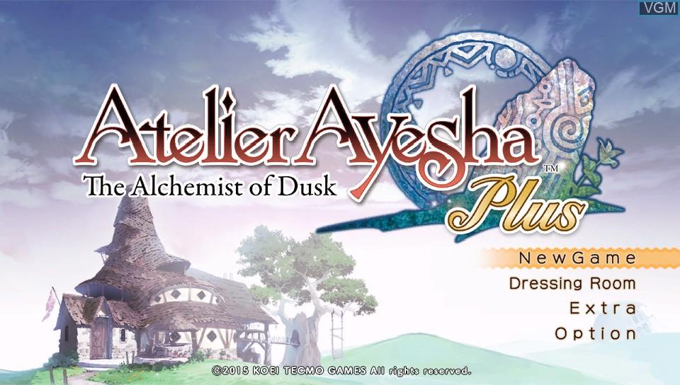 Image du menu du jeu Atelier Ayesha Plus - The Alchemist of Dusk sur Sony PS Vita