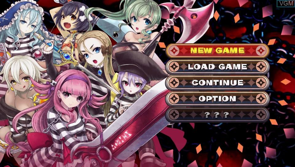 Image du menu du jeu Criminal Girls 2 - Party Favors sur Sony PS Vita