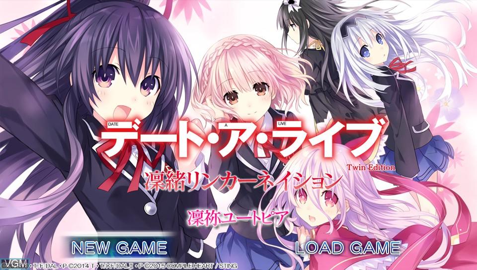 Image du menu du jeu Date-A-Live Twin Edition - Rio Reincarnation sur Sony PS Vita