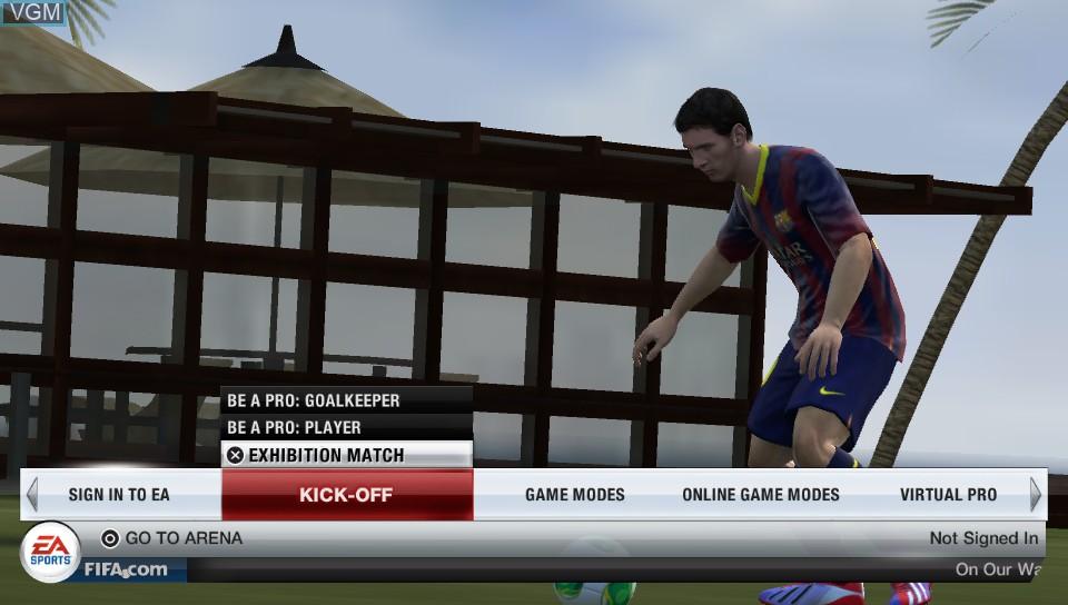 Image du menu du jeu FIFA 14 sur Sony PS Vita