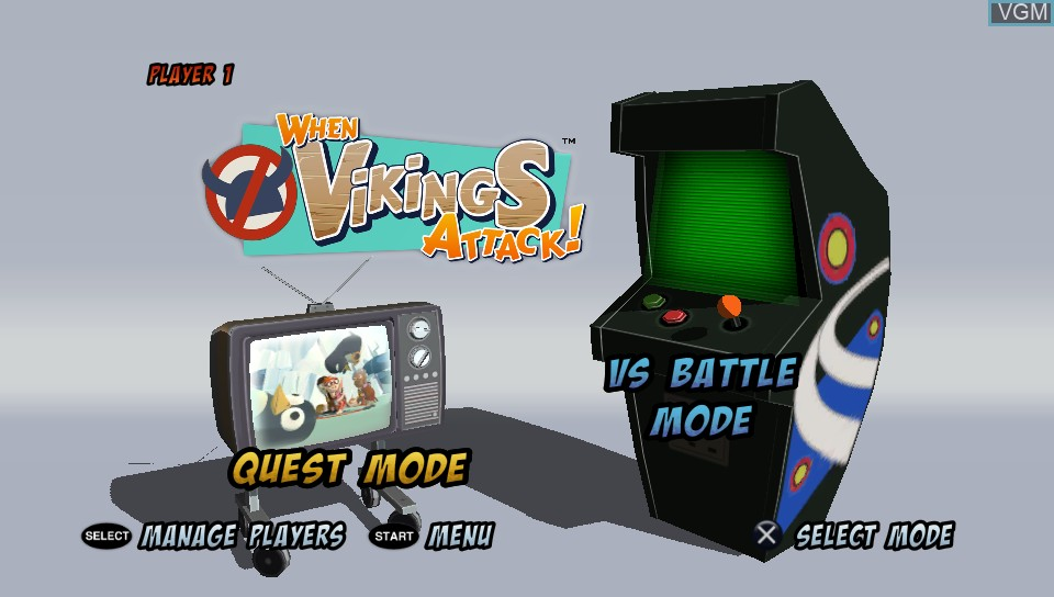 Image du menu du jeu When Vikings Attack! sur Sony PS Vita