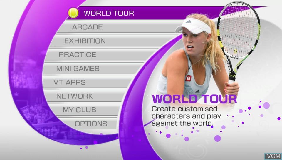 Image du menu du jeu Virtua Tennis 4 - World Tour Edition sur Sony PS Vita