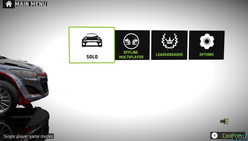 Image du menu du jeu WRC 5 - FIA World Rally Championship sur Sony PS Vita