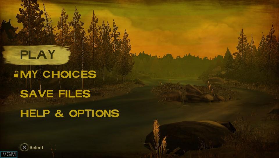 Image du menu du jeu Walking Dead, The - Season Two - A Telltale sur Sony PS Vita