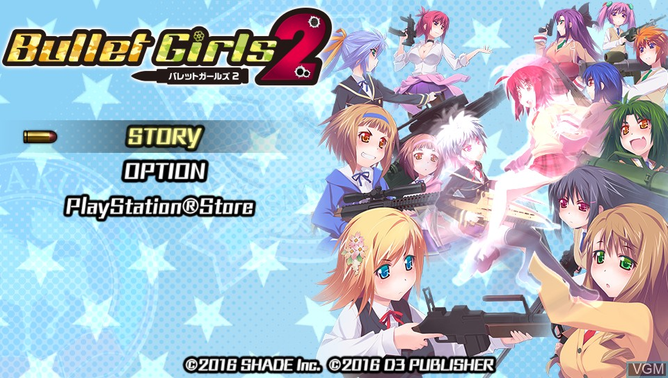 Image du menu du jeu Bullet Girls 2 sur Sony PS Vita