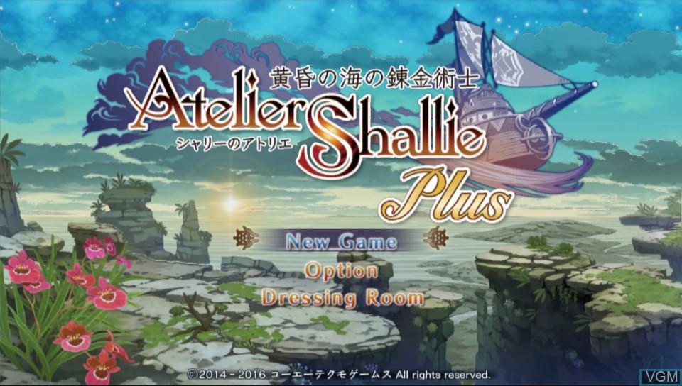 Image du menu du jeu Atelier Shallie Plus - Alchemists of the Dusk Sea sur Sony PS Vita