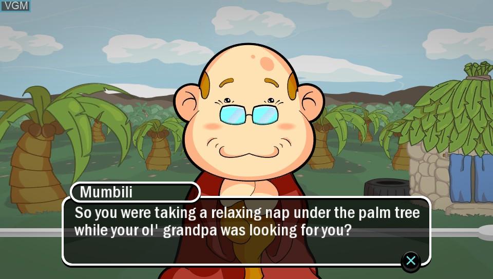 Image du menu du jeu Baboon! sur Sony PS Vita