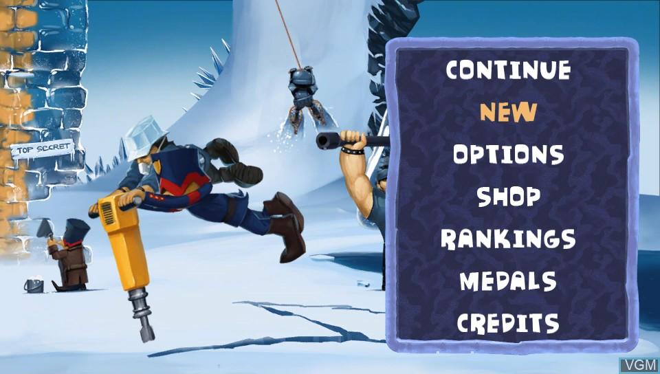 Image du menu du jeu A-Men 2 sur Sony PS Vita