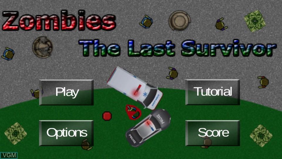 Image du menu du jeu Zombies - The Last Survivor sur Sony PS Vita