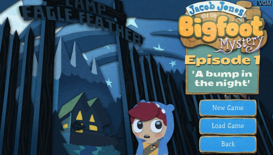 Image du menu du jeu Jacob Jones and the Bigfoot Mystery - Episode One - A Bump in the Night sur Sony PS Vita