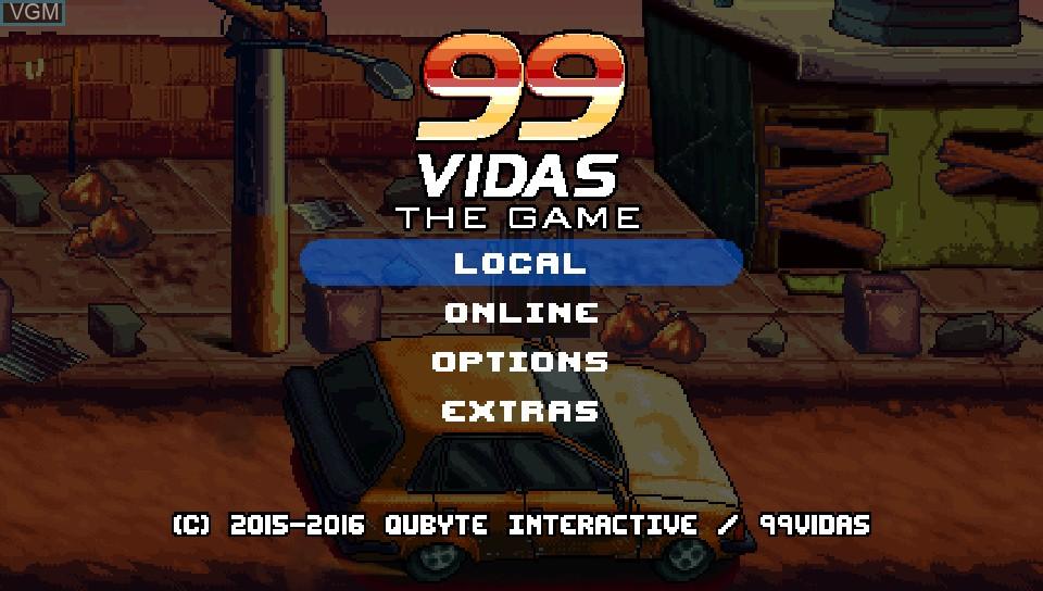 Image du menu du jeu 99Vidas sur Sony PS Vita