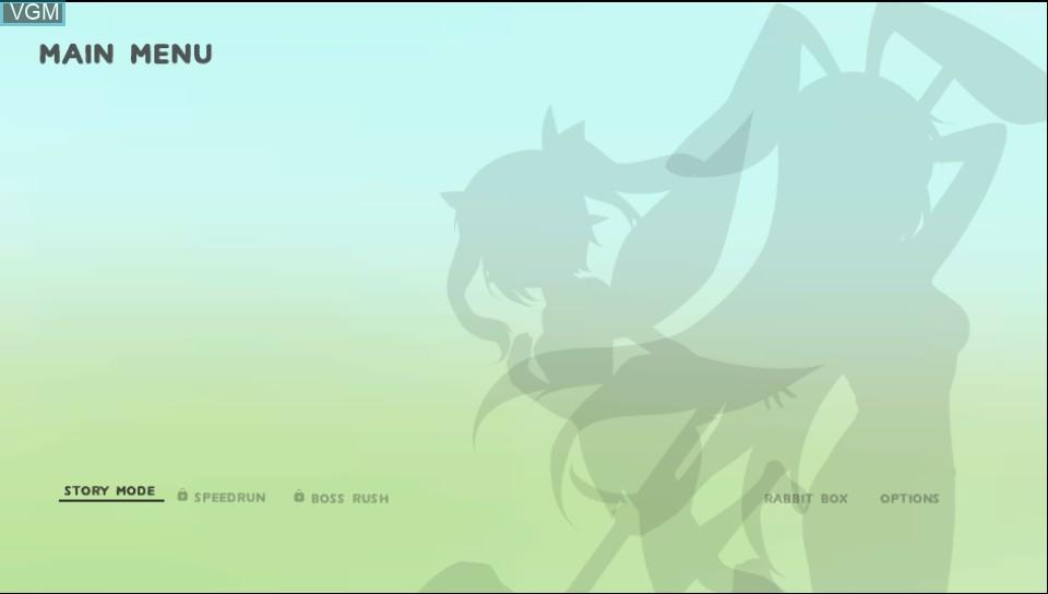 Image du menu du jeu Rabi-Ribi sur Sony PS Vita